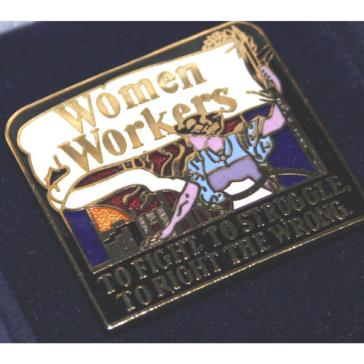 Women workers badge