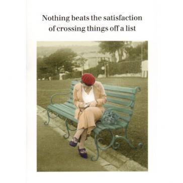 Crossing things off