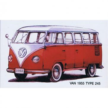 VW Camper van red