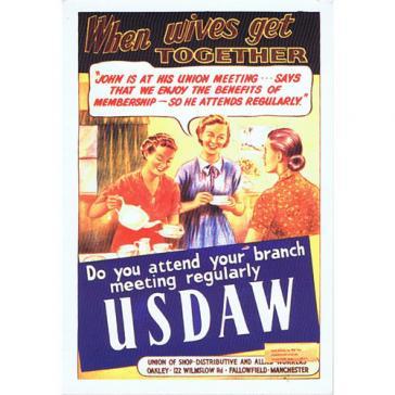 USDAW postcard