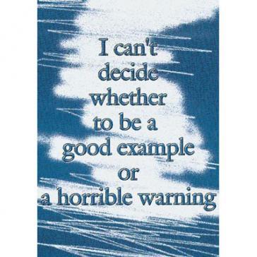 Horrible warning