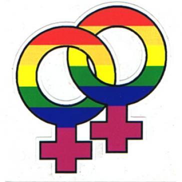 Lesbian Symbol sticker