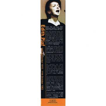 Edith Piaf bookmark