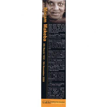 Miriam Makeba bookmark