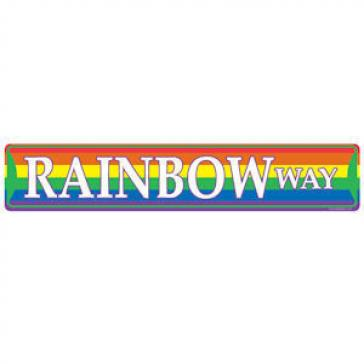 Rainbow Way Sign