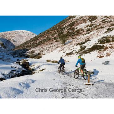 Cycling in snow