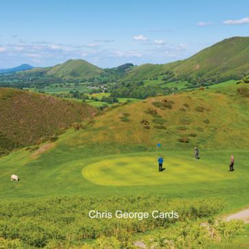 Golfing in hills
