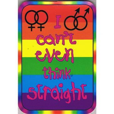 Think Straight Sticker