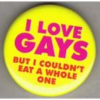Love gays badge