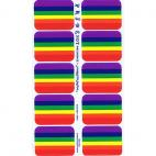 Rainbow Flag stickers